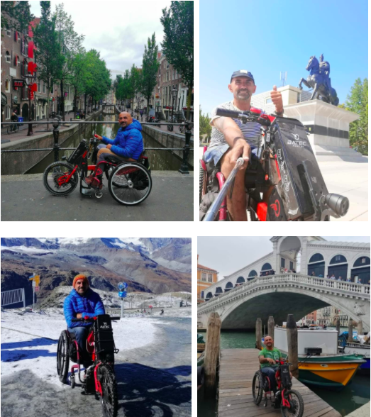 4 fotos de Albert en diferentes ciudades europeas