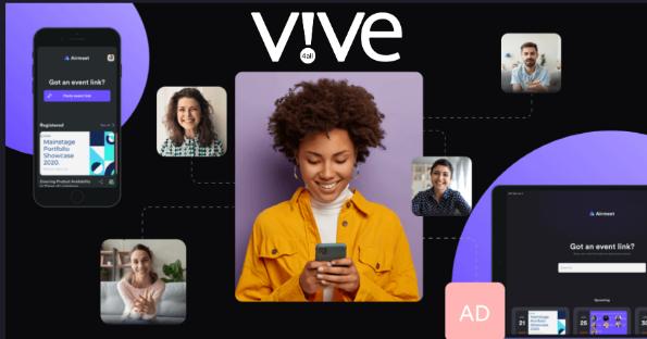 un evento virtual en un teléfono móvil
