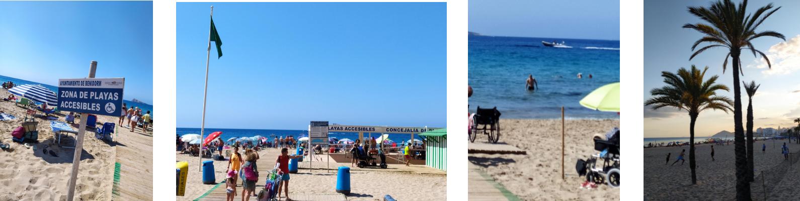 imágenes de playas accesibles en Benidor